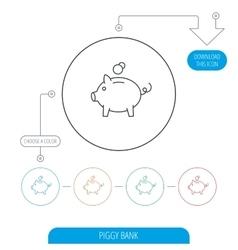 Piggy bank icon Money economy sign vector image
