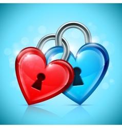 Two Heart Locks vector image vector image