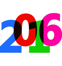 2016 New Year sign vector image