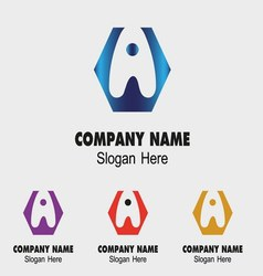 A alphabet logo letter A icon vector image