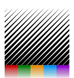 Abstract background lines pattern set of 6 vector