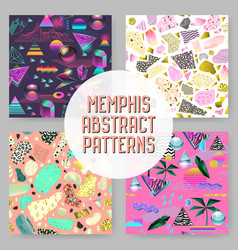 Abstract futuristic seamless patterns set vector