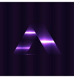 Abstract triangles space low poly Dark background vector image