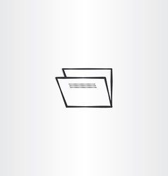 Accounting folder black icon vector