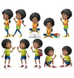 African-American kids vector