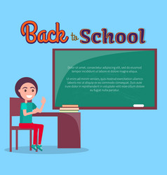 back to school with schoolboy vector image