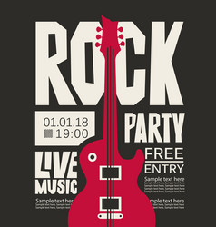 banner for rock party with live music vector image