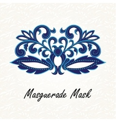 Beautiful Masquerade mask of lace vector image
