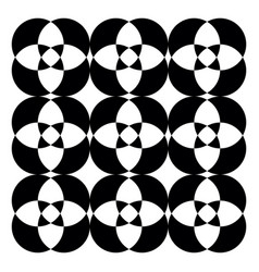 black and white kaleidoscopic pattern or color vector image