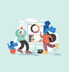 business presentation flat style design vector image