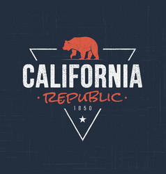 California republic t-shirt and apparel design vector
