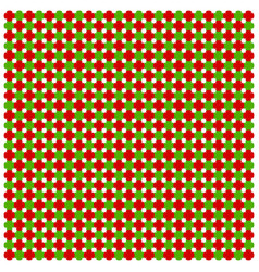 christmas seamless red-green pattern image vector image