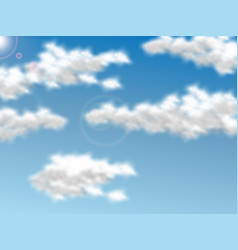 cloud realistic vector image