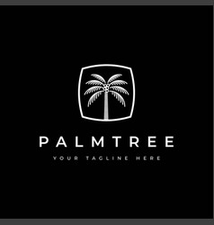 coconut tree logo design templatepalm tree vector image