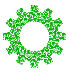 cog mosaic of glad smile icons vector image