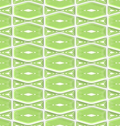 Colored 3D green striped squished hexagons vector image