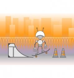 comic robot vector image vector image