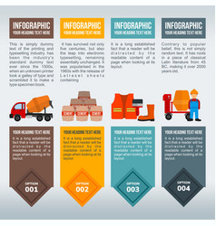 construction items information in infographic vector image