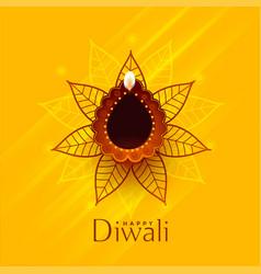 Creative happy diwali traditional background vector