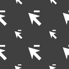 Cursor arrow minus icon sign Seamless pattern on a vector image