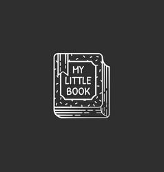 cute line art book vector image