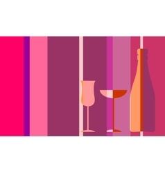 Design for wine event invitation vector image