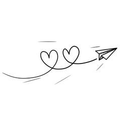 Doodle paper plane icon hand drawn paper plane vector