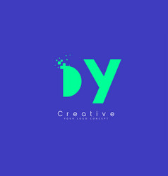 Dy letter logo design with negative space concept vector