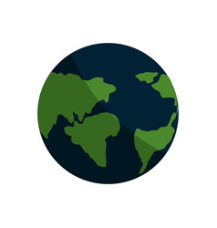 Earth planet with global geographys continents vector