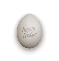 Easter realistic Egg with greeting Text vector image