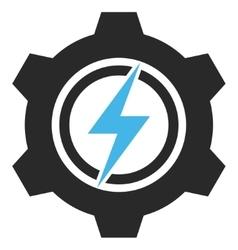 Electric Cogwheel Eps Icon vector