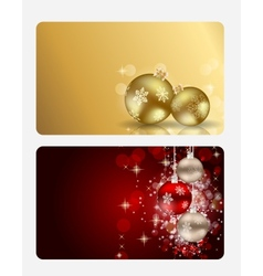 Elegant Christmas Card Set vector image
