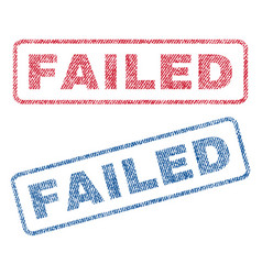 Failed textile stamps vector