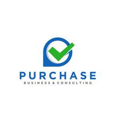 Financial logo design icon simple minimalist app vector