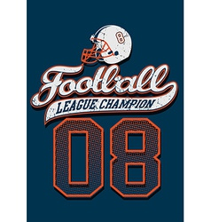Football league champion on a blue background vector image