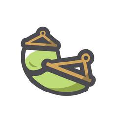 green hammock simple icon cartoon vector image