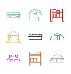 hangar icons vector image