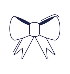 happy birthday gift bow decoration celebration vector image