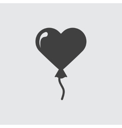 Heart baloon icon vector image