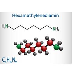 Hexamethylenediamine diamine molecule it is vector