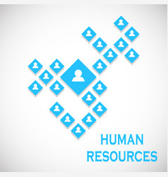 Human resources concept business structure vector