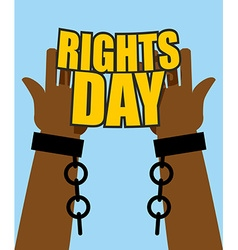 Human Rights Day Poster for International Festival vector