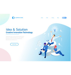 isometric creative idea and innovation concept vector image