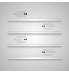 Light grey shelves infographics design vector