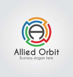 Modern Letter A Logo vector image