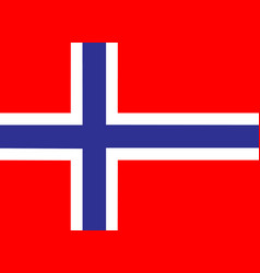 norway flag icon eps10 vector image