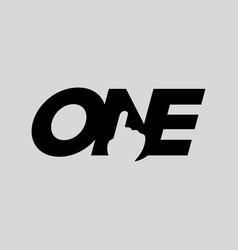 number one typography symbol design vector image