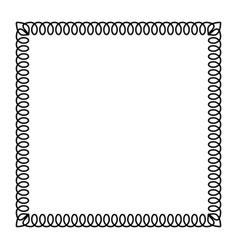 ornamental frame - black telephone spiral cable vector image