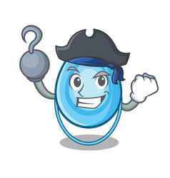 Pirate oxygen mask character cartoon vector