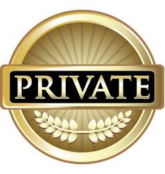 Private gold icon vector